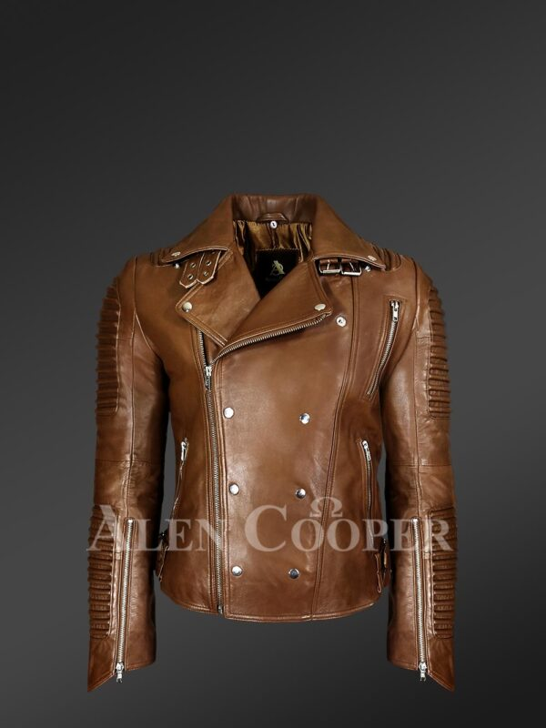 Men's Italian Leather Moto Biker Jacket - Alen Cooper