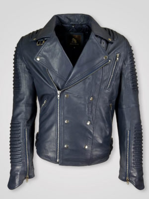 LAPEL COLLAR PURE ITALIAN LEATHER JACKET FOR MEN