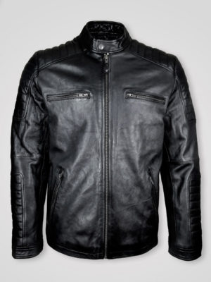 MEN'S STYLISH QUALITY LEATHER BIKER JACKET