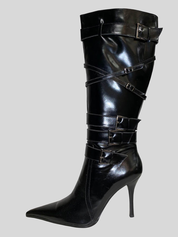 Tigris heeled black boot for women