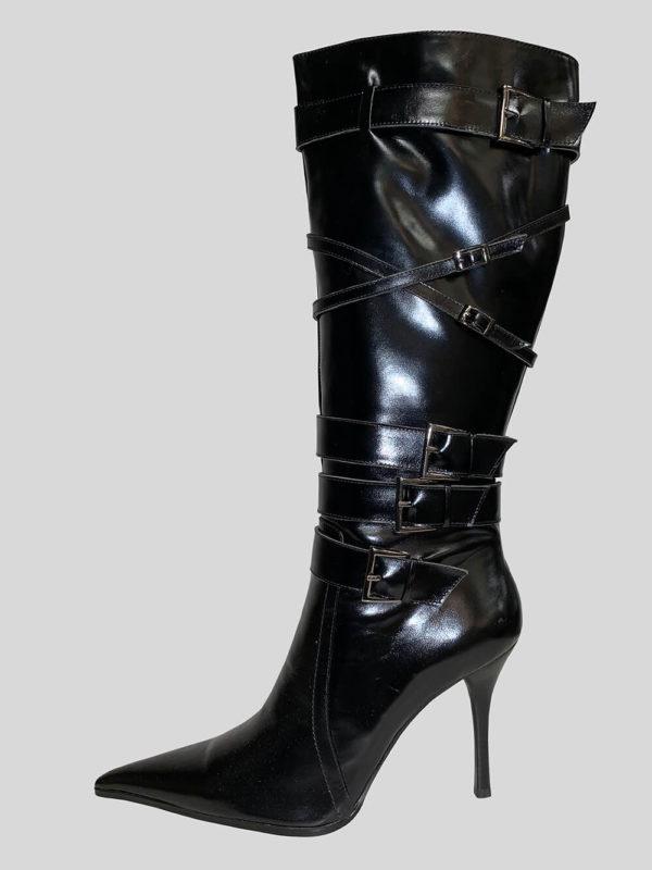 Tigris heeled black boot for women