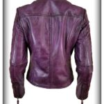 Women's Italian Finish Leather Jacket Back Side view