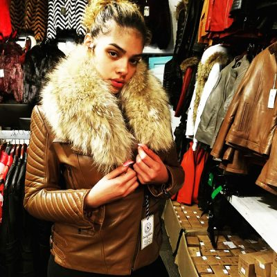 tan-colored-slim-fit-womens-jacket-with-fur-collar