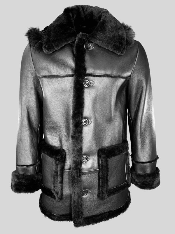Cow Boy Styled Shearling Coat for MenWomen
