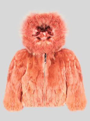 5236f3ca6cda6  0 off Orange colored real rabbit fur winter outerwear for kids ...