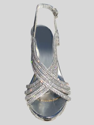 Women's Wedding Shoe with Rhine Stones in Silver