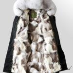 Fox Fur Parka Coat with detachable Fox Fur Trim Hood