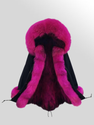 Women's Fox Fur Parka with detachable Fox Fur Hood