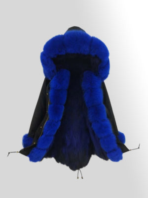 Women's elegant Fox Fur Parka with detachable Fox Fur Hood
