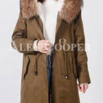 Highly stylish voluminous real fur hooded winter parka for women