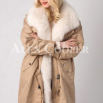 Long and comfortable super warm fur hooded winter parka for women