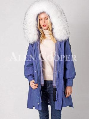 Luxury waterproof warm winter parka with real fur hood for women
