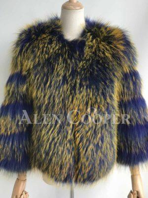 Real raccoon fur Eskimo styled winter vest for women