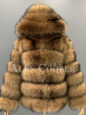 Real raccoon fur sable winter vest for women