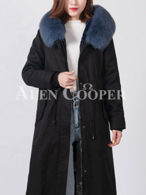 Super warm voluminous fur lined and hooded real warm long parka