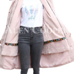 Women's long and casual wind proof and water proof winter parka pink