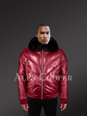 mens-trendy-and-traditional-real-warm-real-leather-v-bomber-jacket-with-black-fur-collar