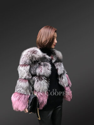 Eskimo styled multi-color real fox fur winter coat for womens new views