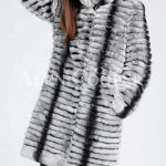 Highly fashionable and luxury long warm winter real fur coat for women