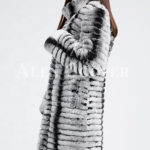 Highly fashionable and luxury long warm winter real fur coat for women sideview