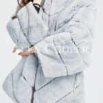 Hooded stylish and luxury real fur winter coat for women