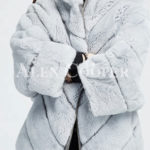 Hooded stylish and luxury real fur winter coat for women's