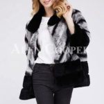 Korean styled bi-color real fur winter vest for womens