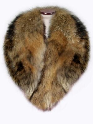 Detachable real raccoon fur super warm collar