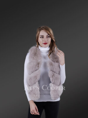 Fashion Ladies Wholesale Genuine Breathable Waterproof Winter Furry Vest Fox Womens Outdoors new views