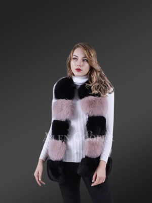 High-Grade Luxury Sleeveless Women Winter2 color Fox Vest New