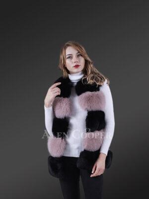 High-Grade Luxury Sleeveless Womens Winter2 color Fox Vest New