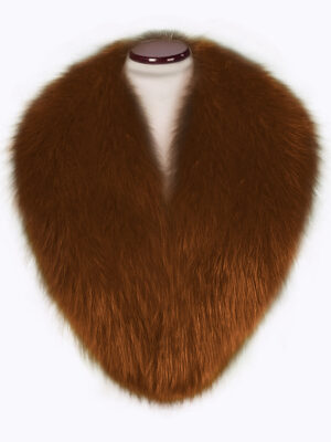 Real fox fur super warm detachable collar in tan