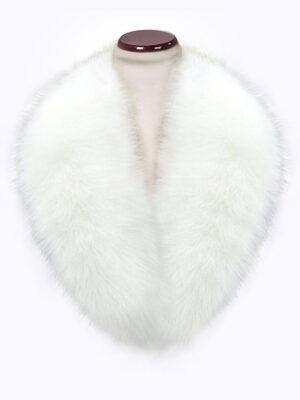 Snow white amazing warm real fox fur collar