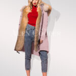 Classy and feminine hybrid pink fur parka convertibles for women's close view