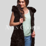 Hybrid fur parka convertibles Coffee fox section