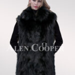 Hybrid fur parka convertibles Raccoon Sheared Black