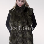 Hybrid fur parka convertibles Raccoon Sheared Coffee
