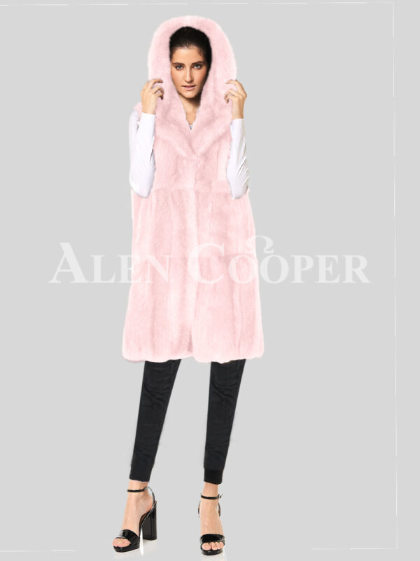 Redefine your pride and vanity with hybrid black fur parka convertible Pink Mink Plate