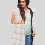 Redefine your pride and vanity with hybrid black fur parka convertible in Mink Paragrapgh White