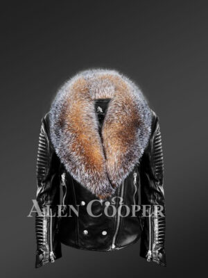 new Scandinavian crystal fox detachable fur jacket for women view