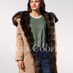 An incredible range of Arctic fox fur hybrid beige parka convertibles for women views