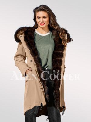 An incredible range of Arctic fox fur hybrid beige parka convertibles for womens views