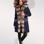 Blue frost fox fur hybrid navy parka convertibles for womens highlighting elegance