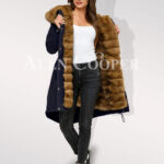 Canadian sable fur Navy hybrid parka convertibles for aristocrat for ladies