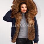 Exquisite Finn raccoon hybrid navy bomber jacket convertibles stylish women cannot ignore women