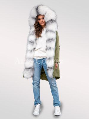 Fascinating collection of Arctic fox fur black parka convertibles for divas for women
