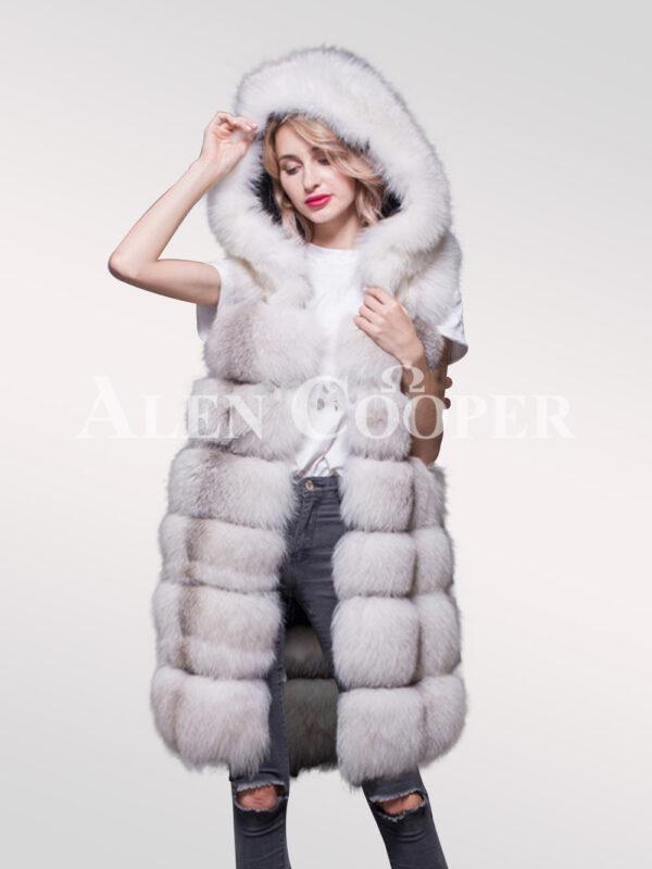 Hybrid Fur Parka Convertibles Polar Fox Paragraph White