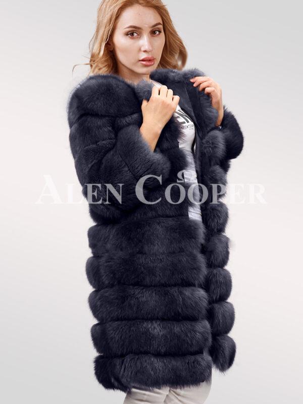 Hybrid Fur Parka Convertibles Polar Fox Paragraph navy