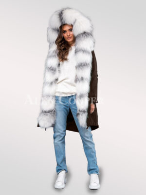 Redefine fairies with exotic range of arctic fox fur hybrid coffee parka convertibles