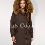 Standalone range of Canadian sable fur hybrid coffee parka convertibles for women